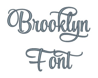 Brooklyn Embroidery Font Set 2 Machine Embroidery Monogram Font Designs 5 Size Bx Embroidery Fonts - INSTANT DOWNLOAD
