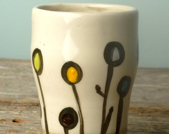 Handmade Hand Painted Ceramic Pottery Tumbler/Glass