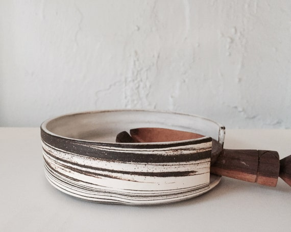 Marbled clay ceramic spoonrest