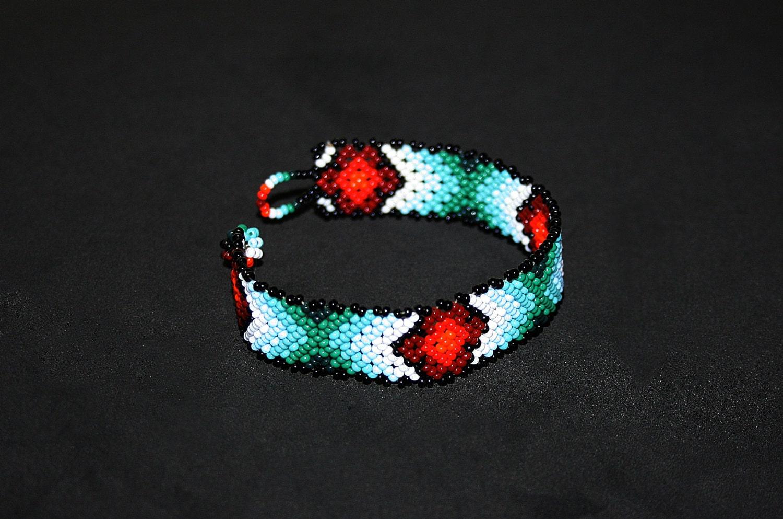 huichol bracelet american beaded bracelet thin beaded