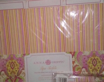 Lot of Elegant Anna Griffin Paper and Photo Portfolio Sealed File Folders for Decorative Papers and 4X6 photographs