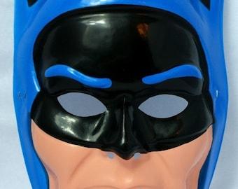 Vintage 80s Batman Super Hero Halloween Mask DC Comics Ben Cooper New York Y098