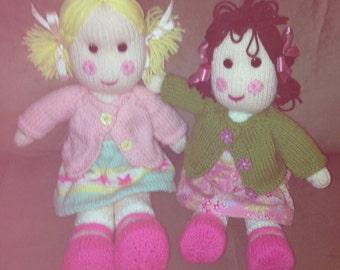 Grandmas knitted dolls custom