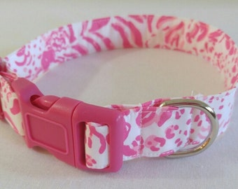 Dog Collar in Lilly Pulitzer Get Spotted fabric