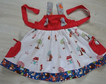 Matilda Jane Inspired Red riding hood Knot dress with knot pockets!!