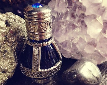 Egyptian Musk Perfume-tear cobalt bottle-musk-annointing oil- holy oil