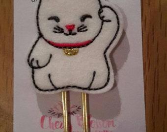 Lucky Cat Maneki Neko Paper Clip