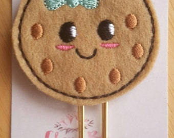 Kawaii Cute Mint Choc Chip Cookie Paper Clip
