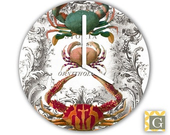 Wall Clock by GABBYClocks -  Crustaceans No. 4
