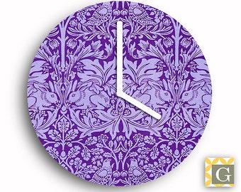 Wall Clock by GABBYClocks -  Purple Forest