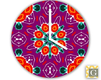 Wall Clock by GABBYClocks - Purple Haute Grande