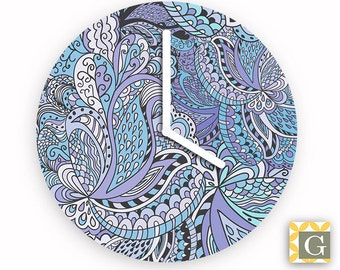 Wall Clock by GABBYClocks - Paisley Sky Petite