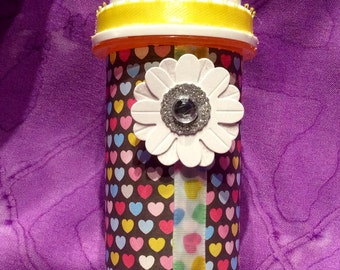 """Small recycled prescription bottle 4"""""""