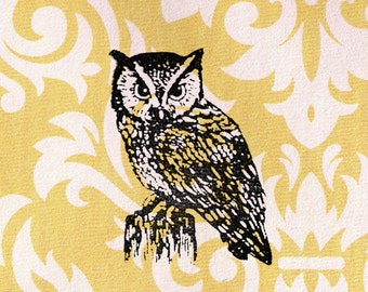 Owl Stamp: Wood Mounted Rubber Stamp