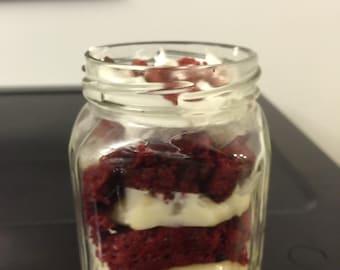 Dessert Jars - Red Velvet Cake in a Jar