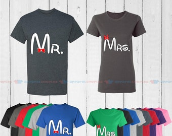 Mr. & Mrs. (white edition) - Matching Couple Shirts - His and Her T-Shirts - Love Tees