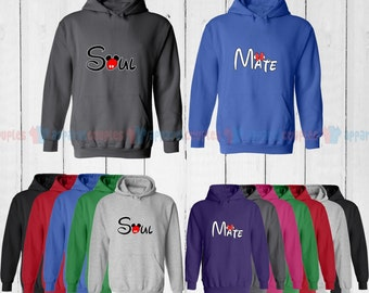 Soul Mate (Mr. & Mrs.) - Matching Couple Hoodie - His and Her Hoodies - Love Sweaters