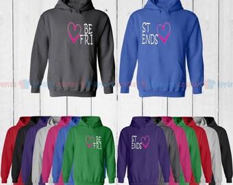 BFF Best Friends - Best Friend Forever Matching Hoodie- Bff Hoodies