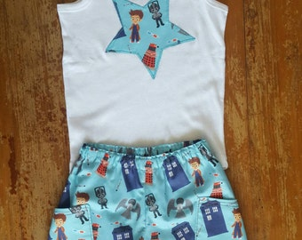 Size 3 - Shorts with pockets and appliquéd singlet set