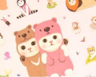 Kawaii Korean Cat sticker Pack 4Sheets- Cute Cat Planner Deco Sticker