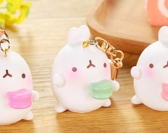 NEW Super Kawaii MOLANG Charm Keychain Made to Order
