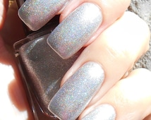 sale  Frost Bite - Super shiny foil like silver nail polish with a hint of holographic effect