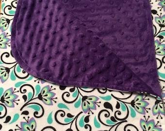 ON SALE Baby Blanket, Minky Baby Blanket,  Purple Baby Blanket , Baby Girl Blanket, Stroller Blanket, Nursery Blanket, Crib Blanket