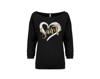 Women's Football Season Sweatshirt | New Orleans Saints Football Shirt | Favorite Team Sweatshirt | Sunday Shirt