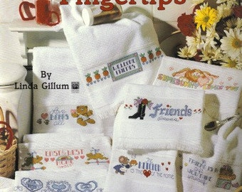 Short and Sweet Towel Designs Cross Stitch Pattern Leisure Arts Leaflet 2444