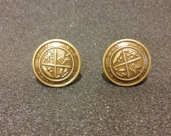 Upcycled Metal Button Cufflinks