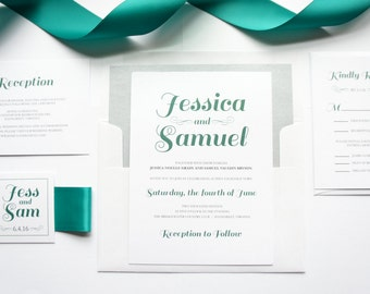 Wedding Invitation Set, Wedding Invitation Suite, Handmade Wedding Invitations, Wedding Invites, Wedding Invitations and rsvp - SAMPLE SET