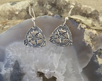 Sand Dollar Fine Silver Earrings