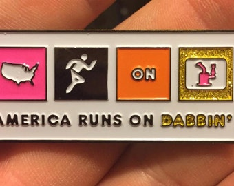 America on Dabs - Dabbing - Hash oil hat pin