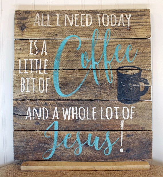 Rustic Pallet Wall Art Coffee Pallet Sign Wood Wall Sign Gifts