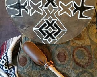 Native American Ceremonial Hoop Drums