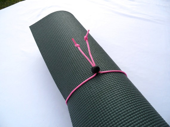 Mini Yoga Mat Tie- Cherry Blossom Pink-FREE SHIPPING on All U.S. Orders, Yoga Mat Holder, Yoga Mat Carrier, Yoga Mat Strap, Yoga Accessories