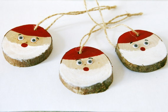 Items similar to christmas tree decorations handmade wood