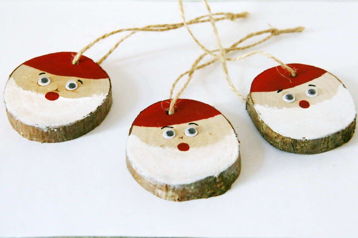 Christmas tree decorations handmade wood