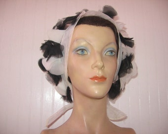 1960's Bouffant Petal Scarf Kerchief / Several Colors Available!