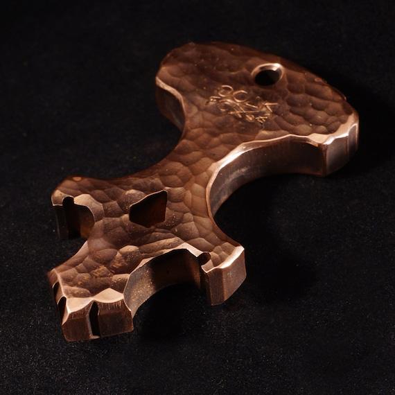 Copper Polished Skully Keychain Multi-Tool