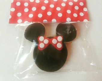 Minnie/Mickey Mouse Fondant Silhouette Rice Krispy Treat Party Favor