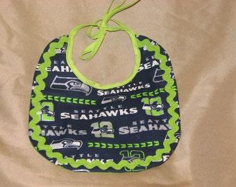 Seattle Seahawks Reversible Baby Bib