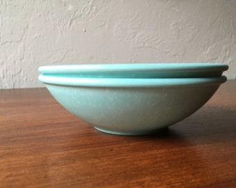 Aqua melamine bowls, set of 2