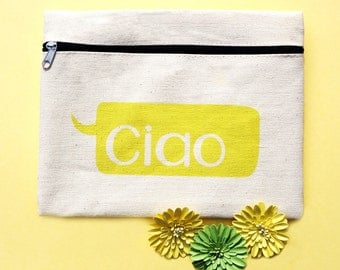 Ciao Canvas Travel Pouch