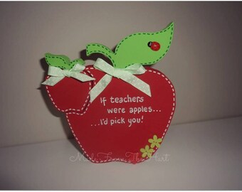 Wooden Freestanding Teacher's Apple Personalised
