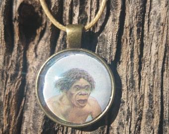 Caveman Pendant Necklace