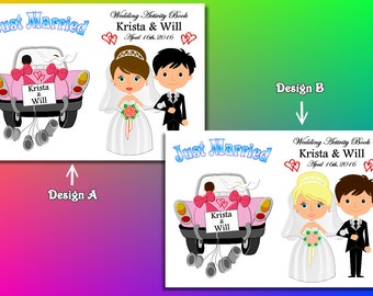 Kids Wedding Coloring Activity Book Printable Wedding