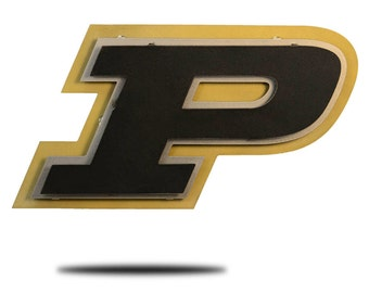 Purdue University Stainless Steel Wall Decor Black on Gold