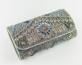 Embroidered Clutch Silver Clutch Embellished Clutch Bags  Purses Clutches and Evening Bags Crystal bag minaudire crystal purse