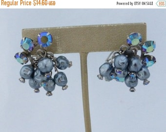 On Sale Wingback Cluster earrings Aurora and borealis baroque pearls AM61